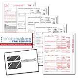 Tangible Values 1099 Misc Laser Forms (4-Part) Kit with Envelopes for 25 Individuals (2016)