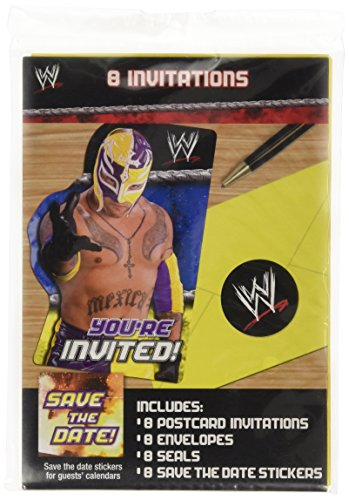 WWE Wrestling Invitations w/ Envelopes (8ct)