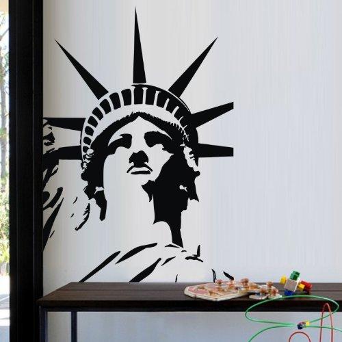Usa Landmark New York City The Status Of Liberty Vinyl Art Wall Decals Sticker For Kid Girls Boys Nursery Art front-731631