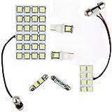 サンピエ(SUNPIE)LED ルームランプ セット 日産 エクストレイル T32専用 室内灯 NISSAN X-TRAIL 3チップ SMD 46個 138発相当 取付工具付き