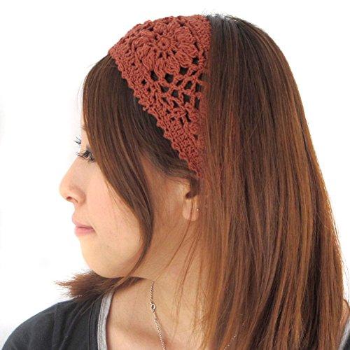 Casualbox fascia per capelli da donna, motivo floreale, Design giapponese, elastico, realizzato a mano