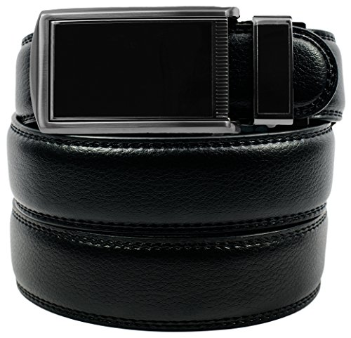 Boys Black Leather Belt with Black Buckle