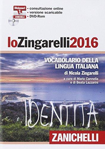 Lo Zingarelli 2016 Vocabolario della lingua italiana DVD ROM PDF
