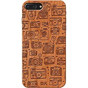 iPhone 7 Plus Case, Apple iPhone 7 Plus Real Wood Case Cover. Slim Rich natural Wood-back case. Protective iPhone 7 Plus Real Wood back cover with a laser engraved technology. Unique Classy & Stylish Premium Genuine Wooden Back Case [ 3 Years Warranty]
