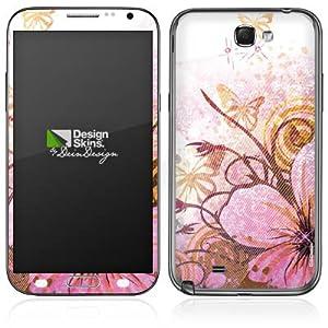 Handy Skin Aufkleber Sticker für Schmetterlinge und Blumen Galaxy Note 2 N710...