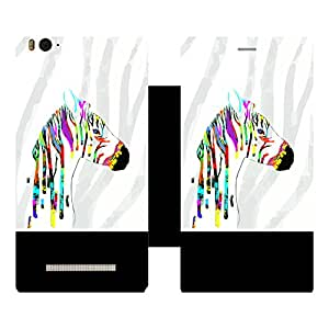 Skintice Designer Flip Cover with Vinyl wrap-around for Xiaomi Redmi Mi4i , Design - animal art