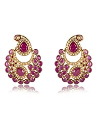 Aaishwarya Designer Ambi Design Chandbali Earrings