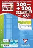 Clairefontaine 11791c Feuillets mobiles seyes grand carreaux 21 x 29.7 cm Paquet de 300 + 200 gratuit