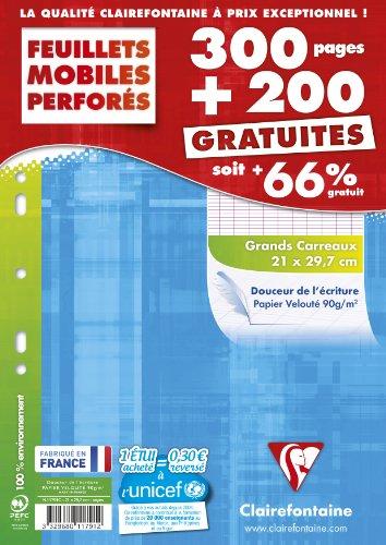 Clairefontaine - 11791c - Feuillets Mobiles Séyès - Lot de 300 +...