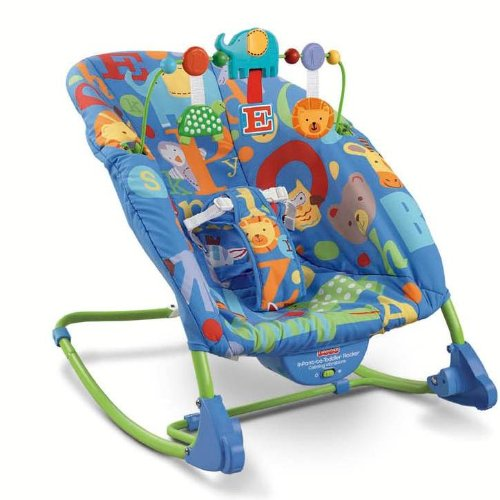 Fisher-Price Deluxe Infant to Toddler Rocker, Alpha Fun