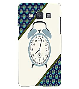PrintDhaba Alarm Watch D-4268 Back Case Cover for SAMSUNG GALAXY A5 (Multi-Coloured)