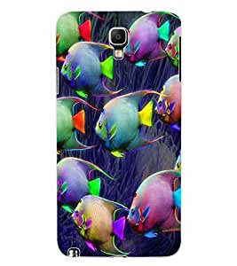ColourCraft Beautiful Fishes Design Back Case Cover for SAMSUNG GALAXY NOTE 3 NEO DUOS N7502