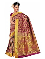 Kanchipuram Art Silk Full Brocade Saree- Rani