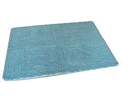 HouseofBeauty Soft Fur Room Rugs Floor Area Rug Door Mat Bedroom Home Carpet Yoga Rugs Light Blue 15.7\