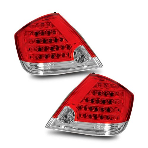 Sppc L.E.D Taillights Red/Clear For Scion Tc - Passenger And Driver Side