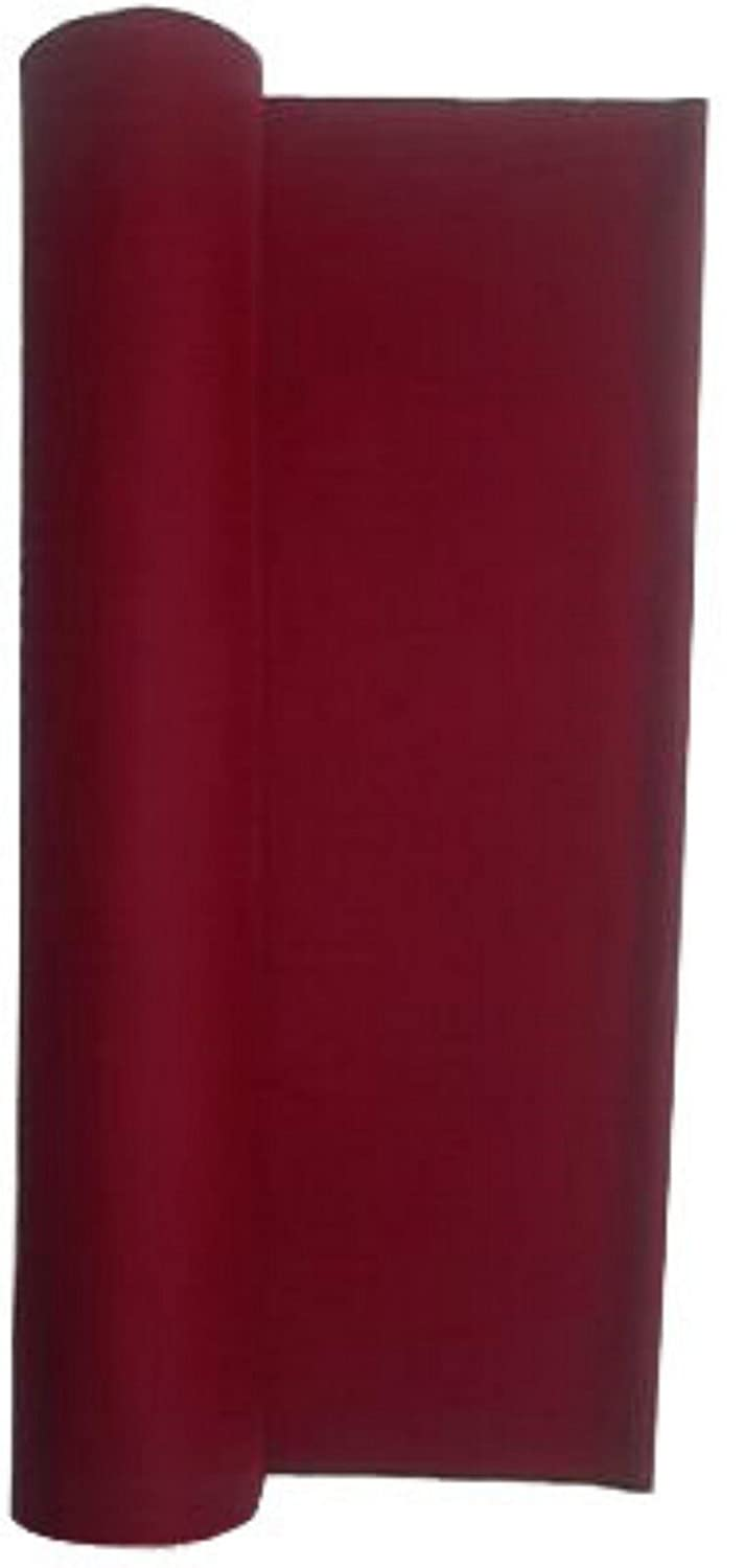 21 Ounce Pool Table Billiard Poker Cloth Felt Burgundy Priced Per Foot via Amazon