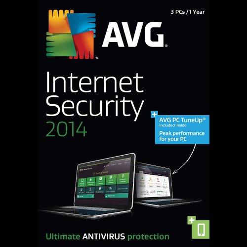AVG Internet Security + PC TuneUp 2014, 3-User 1-Year  – ESD  [Download] image