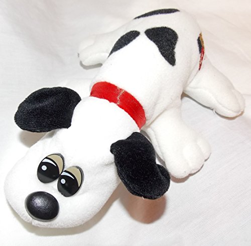 vintage-newborn-pound-puppies-plush-75-white-puppy-dog-with-black-spots-and-short-black-ears