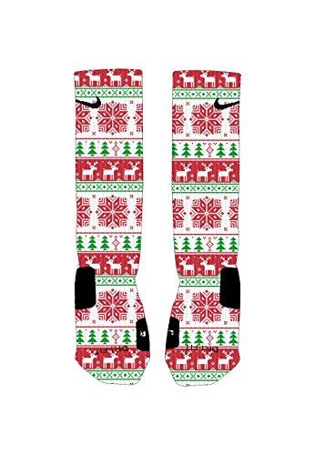 Elevate Apparel and Gear Men's Ugly Sweater Custom Nike Elites Socks Large 8-12