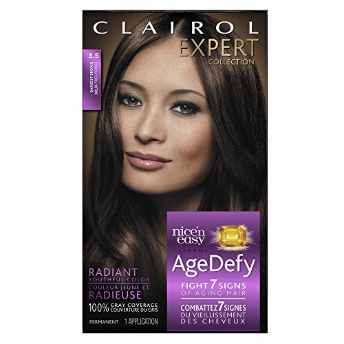 Clairol Age Defy Expert Collection, 3.5 Darkest Brown, Permanent Hair Color, 1 Kit (Hair Colors For Women compare prices)