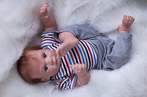 """50cm 20"""" Soft silicone Magnétique bébé poupée Girl Boy Looking Lifelike Reborn Baby Dolls Kids réaliste gift"""