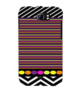 PrintVisa Chevron & Stripes Pattern 3D Hard Polycarbonate Designer Back Case Cover for Micromax Canvas 2 A110 A110Q