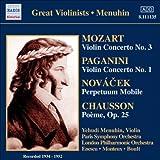 Yehudi Menuhin - Concertos Pour Violon