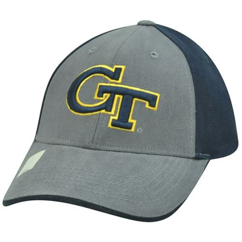 GT Georgia Tech Yellow Jackets NCAA Velcro Grey Navy Blue Curved Bill Hat Cap at Amazon.com