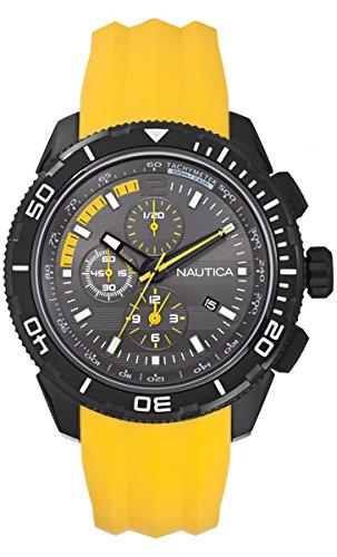 Nautica A19629G - Orologio da polso uomo, silicone, colore: giallo