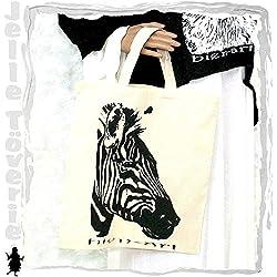 NATUREBAG Jelle Töverie Zebra von Rea Bien Animals Tasche Beutel Baumwoll Jute