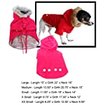 Anima Red Water Resistent Polyester Blend Detective Coat, Snap Button Closure, XX-Small