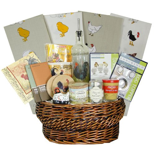 Luxury Chicken, Egg and Easter Gourmet French Gift Basket