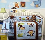 SoHo Playful Monkey Baby Crib Nursery...