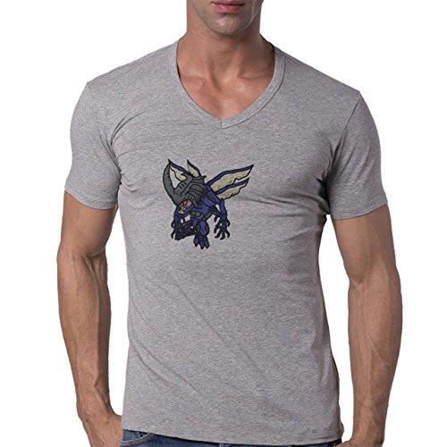 Digimon-Tentomon-Bug-Kabuterimon-Small-XL-Hombres-V-Neck-T-Shirt