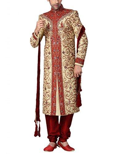 Readiprint Men Silk  Banarasi Sherwani