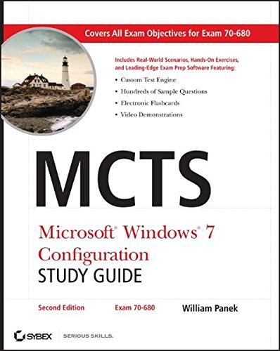MCTS Microsoft Windows 7 Configuration Study Guide, Study Guide: Exam 70-680 (Windows 7 Certification compare prices)