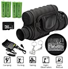 Blueskysea Free Gift Keychain + HD 720P WG-50 Infrared Night Vision IR Monocular Telescope 6x50 Zoom Record DVR (WG-50+ 4 Batteries+Charger Kit+32GB Card)