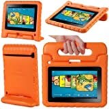 MYCARRYINGCASE ArmorBox for Amazon Kindle Fire HD 7 Inch Kickstand Cover Case Orange (Not Compatible with the Original Kindle Fire or Kindle Fire HD 8.9)