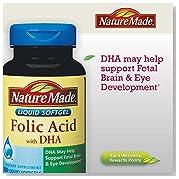 Nature Made Folic Acid 600 mcg with DHA - 300 Softgels