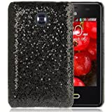 Fashion Shimmering Powder Pasted Skin Plastic Case for LG Optimus L3 II / E430 (Black)