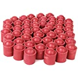 Generic 50pcs Pool Billiard Snooker Stick Protector Cover Cap Rubbers For Bottom Of Cues Red