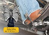 Biker Boot Straps Boot Strap Clips – Iron Butterfly BBS-IBC by NYC Leather Factory Outlet