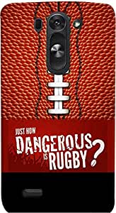 PrintVisa Sports Rugby Quotes Case Cover for LG G3 Beat 722K