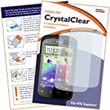 "2 x mumbi Displayschutzfolie HTC Explorer Displayschutz ""CrystalClear"" unsichtbar"