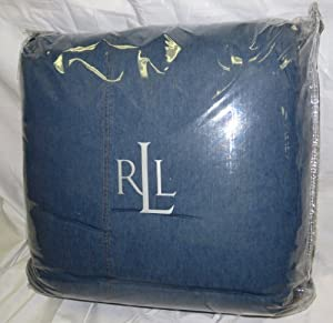 Ralph Lauren University Blue Denim Comforter, Twin Comforter