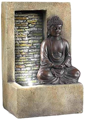 Ore International FT-1199/1L Buddha Tabletop Fountain, 10-Inch