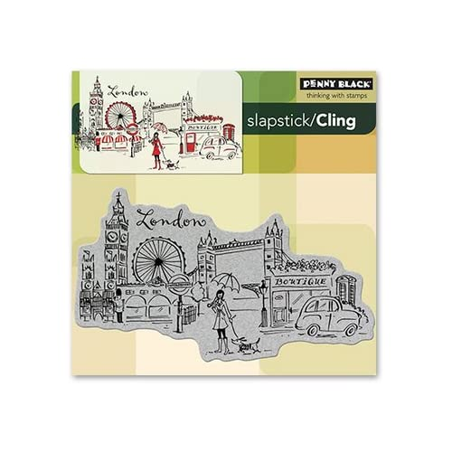 Penny Black Cling Rubber Stamp 5X5 London