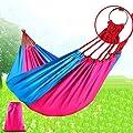 Outdoor-Camping-Lieferungen Hängematte Schaukel Doppel Freizeit Verdickung Verbreiterung nap Fallschirm Tuch Bett geschwungen von Flying little witch Hammock bei Gartenmöbel von Du und Dein Garten