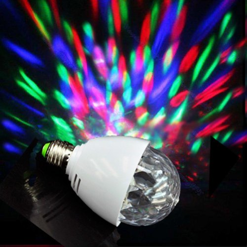 On The Way (Tm) Full Color Rotating Lamp Strobe E27 Rgb Led Crystal Stage Light For Disco Party Club Bar
