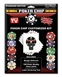 Customized Poker Chip Designer Kit. Includes 700 Labels, Software and Placement Tool